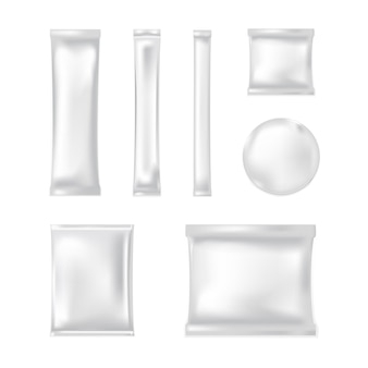 Maquete do saco plástico em branco.