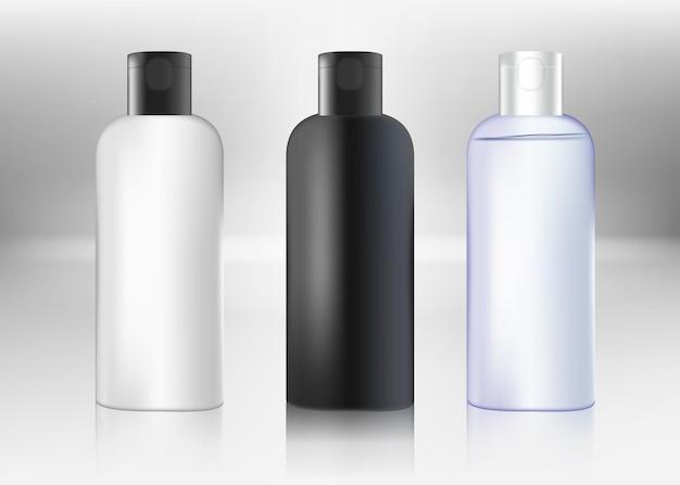 Maquete em branco do frasco essencial do frasco da cor marrom frasco âmbar tampa de rosca recipiente médico