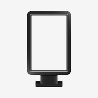 Maquete realista de caixa de luz modelo em branco de citylight placa de suporte de publicidade ao ar livre