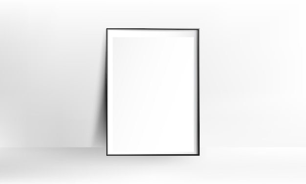 Maquete realista de quadro de cartaz em branco
