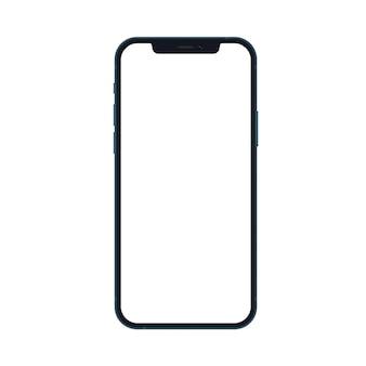 Maquete realista de smartphone azul oceano nova geração isolada