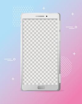 Maquete realista de smartphone, tecnologia de dispositivo