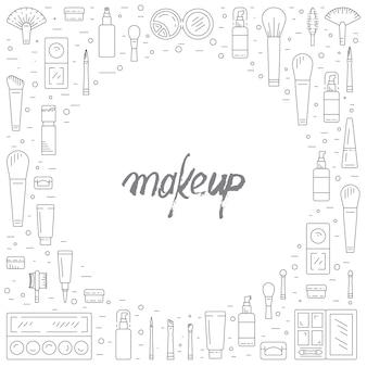 Maquiagem cosméticos decorativos
