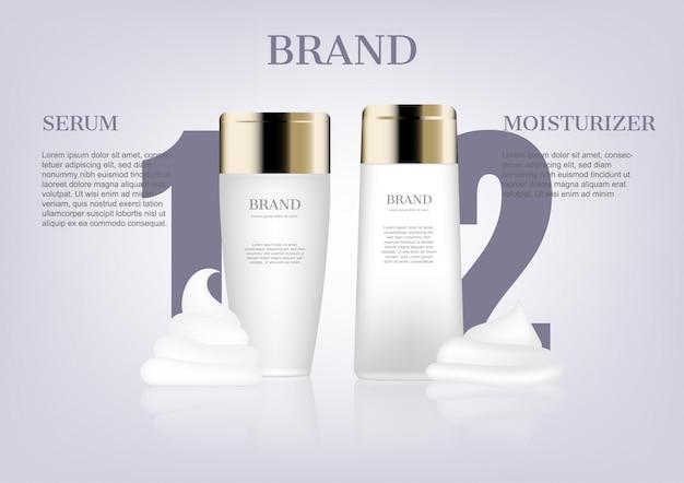 Maquiagem de soro e hidratante