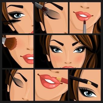 Maquiagem mulher de beleza