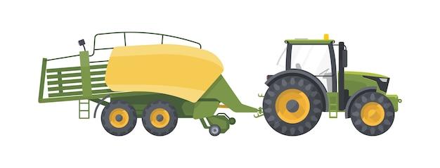 Máquina agrícola isolada no branco