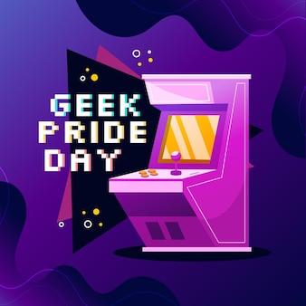 Máquina de arcade geek day orgulho