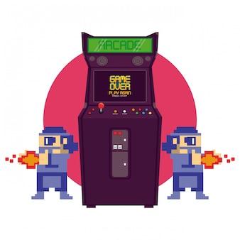 Máquina de arcade retro videogame