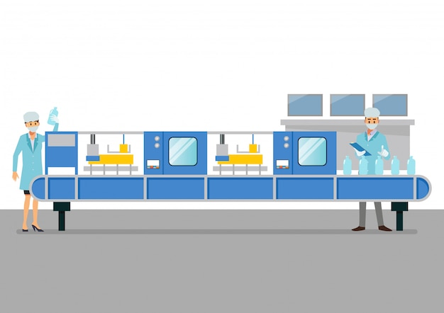 Máquina de correia de automação em fábrica inteligente industrial