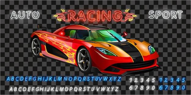 Máquina de corrida muito rápida