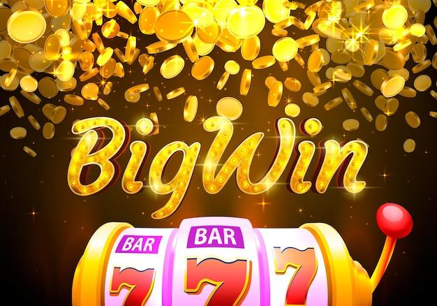 Máquina de dinheiro de moeda de cassino bigwin jogar agora vetor