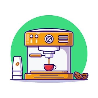 Máquina de fazer café plana.
