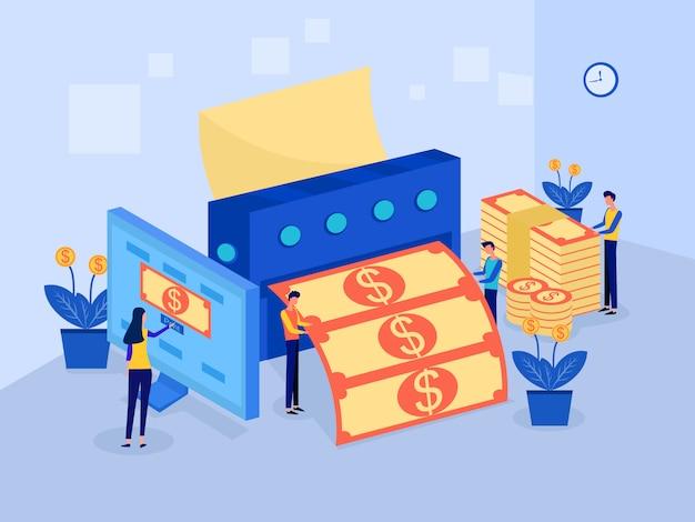 Máquina de fazer dinheiro, ideia de negócio