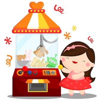 Máquina de jogo da boneca