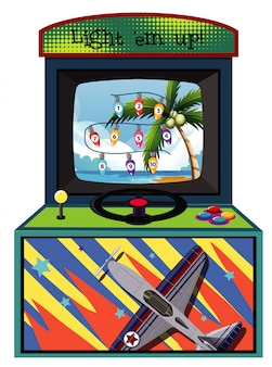Máquina de jogo para contar números em branco