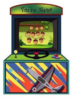 Máquina de jogo para contar o número em branco