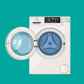 Máquina de lavar com porta aberta