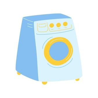 Máquina de lavar. equipamento doméstico para lavagem. ilustrações vetoriais na moda. estilo de desenho animado. todos os elementos são isolados
