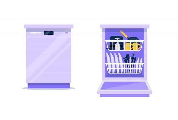 Máquina de lavar louça plana