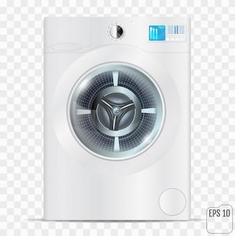 Máquina de lavar roupa branca