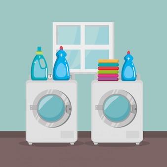 Máquina de lavar roupa com serviço de lavanderia