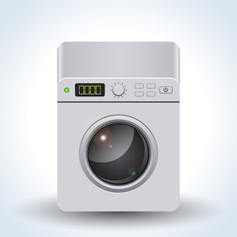 Máquina de lavar roupa ilustração vetorial realista