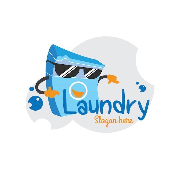 Máquina de lavar roupa legal do logotipo da lavanderia dos sunglass