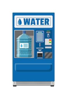 Máquina de venda automática com água potável.