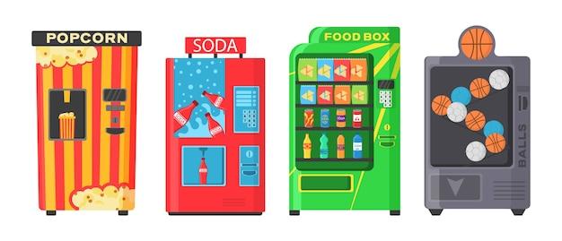 Máquina de venda automática com lanches fast food
