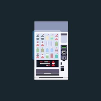 Máquina de venda automática com tela de toque de pixel art.