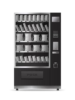 Máquina de venda automática de lanches realista com painel de controle eletrônico isolado