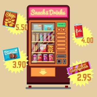 Máquina de vending retrô vector