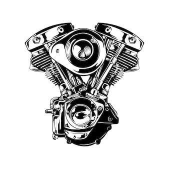Máquina monocromática da motocicleta