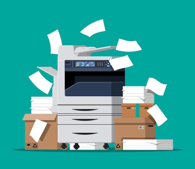 Máquina multifuncional de escritório.