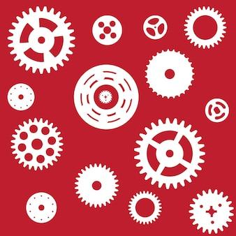 Máquina padrão sem emenda da roda dentada da engrenagem da roda. ilustração vetorial