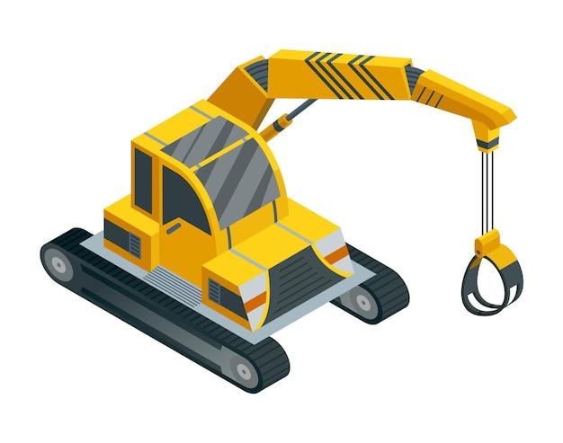 Maquinaria de construção isométrica