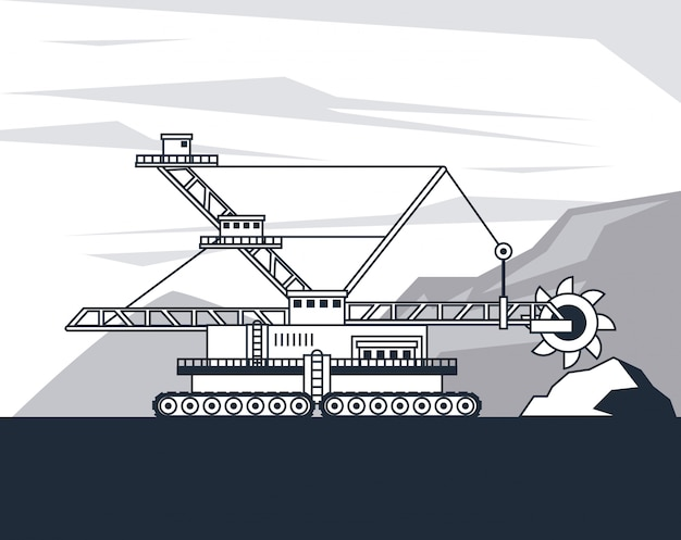 Maquinaria hidráulica da máquina escavadora
