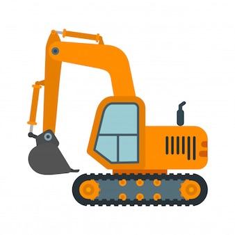 Maquinaria pesada da máquina escavadora