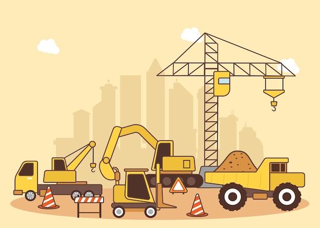 Maquinário de construção de edifícios