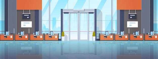 Máquinas de autoatendimento para centros financeiros