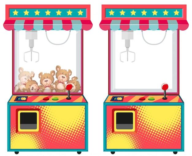 Máquinas de jogos arcade com bonecas