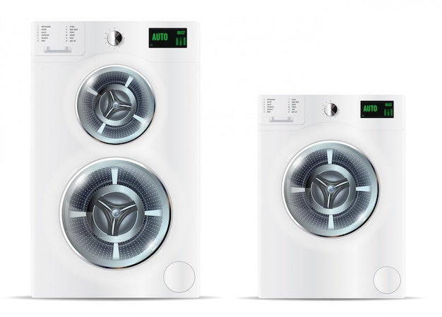 Máquinas de lavar roupa brancas de carga frontal