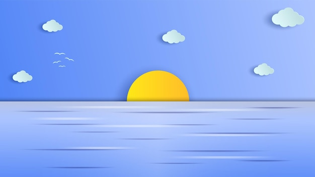 Mar no fundo gráfico de papel