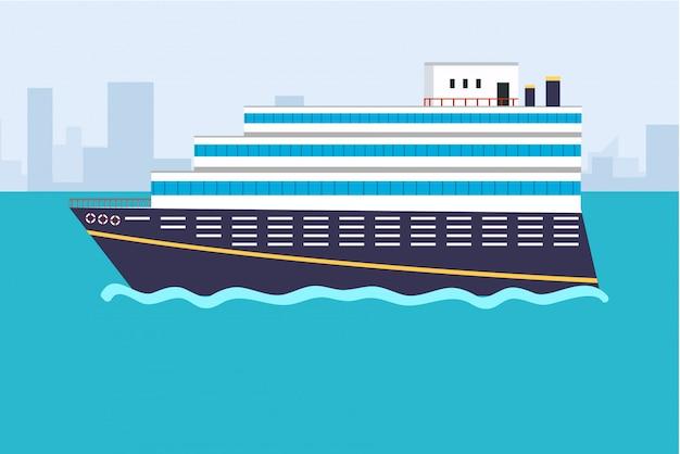 Mar ou oceano conceito de cruzeiro em grande estilo.