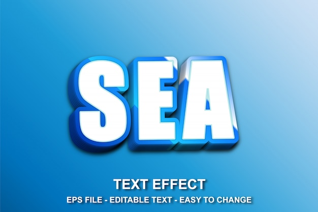 Mar texto efeito gradiente stlye