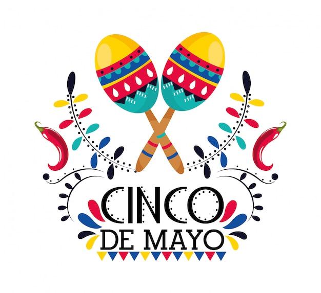 Maracas com pimenta para evento mexicano