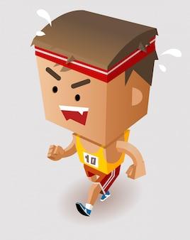 Marathon player running
