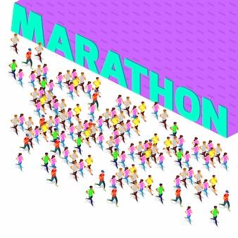 Maratona correndo sprinter