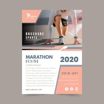 Maratona de estilo de cartaz de esporte