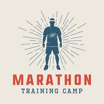 Maratona ou logotipo da corrida